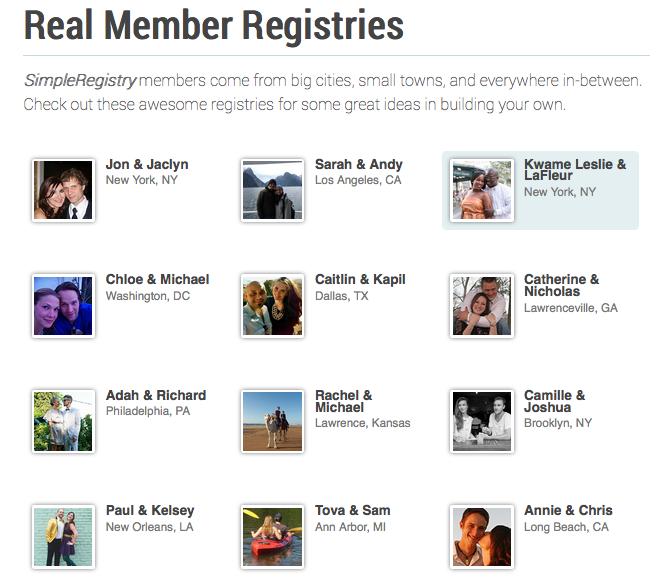 Real Registries 3 Amazing Wedding Registries By Sr