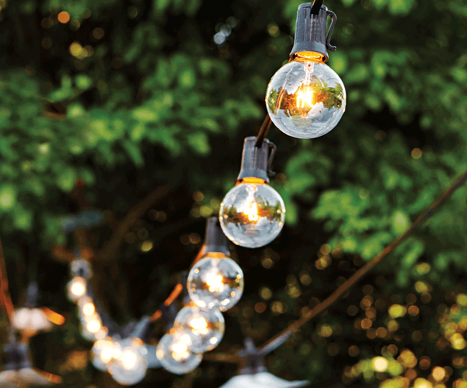Outdoor String Lights Large Bulbs : Wedding Registry Ideas: Best Bets for the Backyard SimpleRegistry