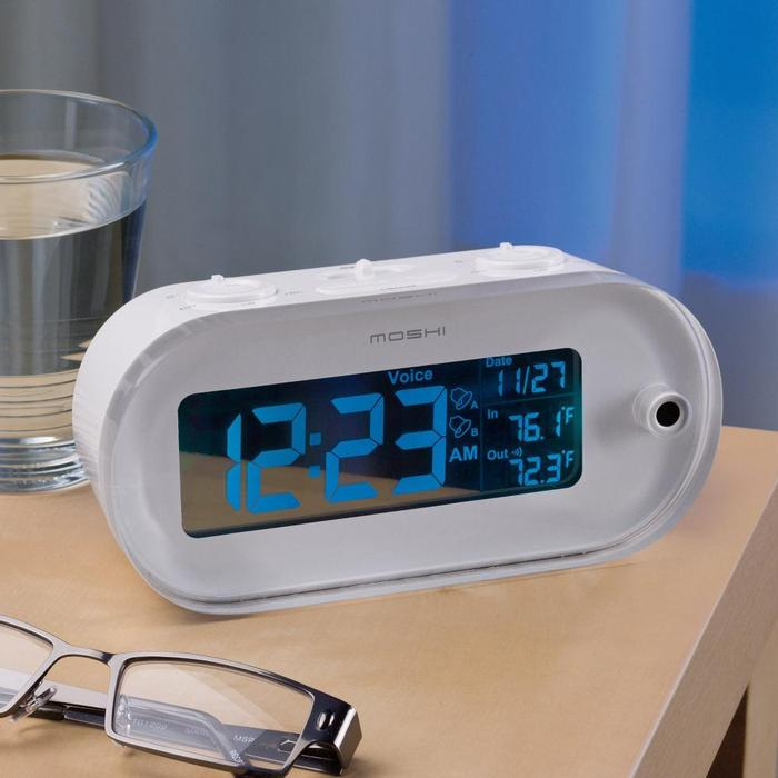 bedroom alarm clock. Moshi s futuristic digital alarm clock activates at the sound of your voice  and responds to a variety commands such as Set Alarm Snooze Your Wedding Registry 7 Bedroom Gift Ideas SimpleRegistry