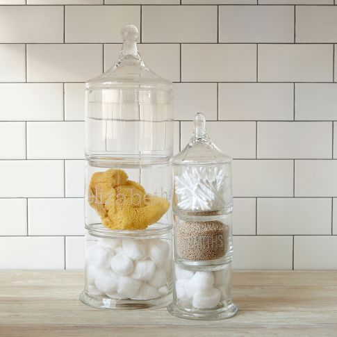save space with these stacked apothecary jars by west elm perfect